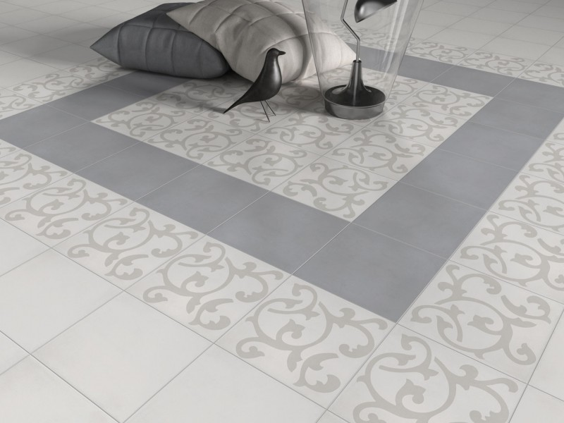 Carreaux de ciment frise arabesque