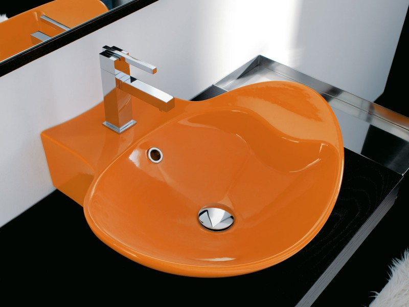 vasque salle de bain orange